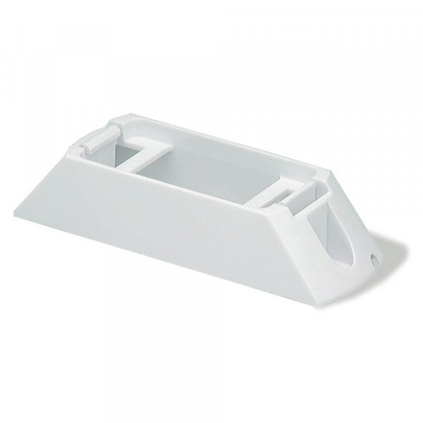 Header-Mount Bracket For Small Rectangular Lights, White