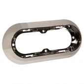 "Surface-Mount Snap-In Flange For 6"" Oval Lights, Chrome"