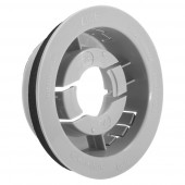 """Snap-In Mounting Flange For 2 1/2"""" Round Lights, Mounting Flange, Gray"""