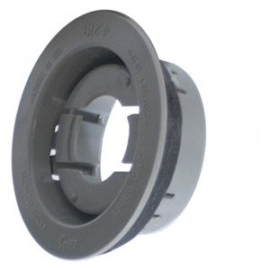 """Snap-In Theft-Resistant Mounting Flange for 2"""" Round Lights, Gray"""