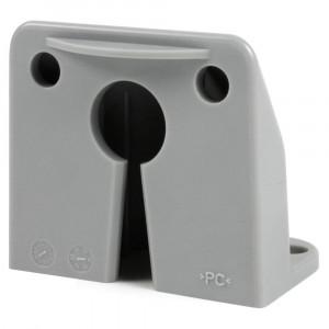 vertical mount micronova dot led license light bracket gray