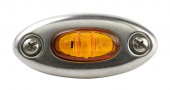 Stainless steel bezel with yellow clearance marker light thumbnail