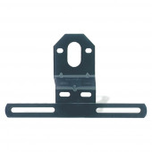 Universal Steel Offset License Plate Bracket, Black thumbnail