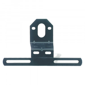 Universal Steel Offset License Plate Bracket, Black
