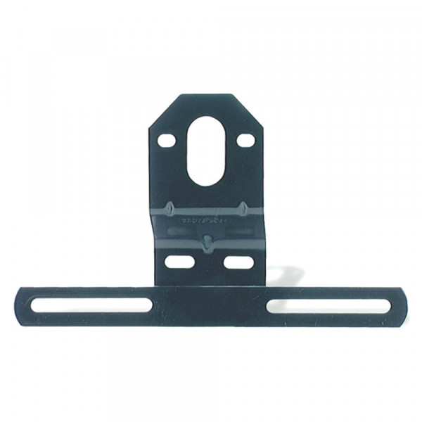 Verschobene Universal-Kennzeichenhalterung aus Stahl, Schwarz