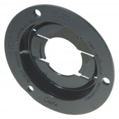 "Theft-Resistant Mounting Flange For 2"" Round Lights, Black"
