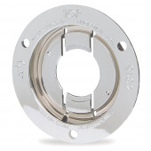 "Theft-Resistant Mounting Flange For 2"" Round Lights, Chrome"