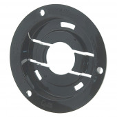 "Theft-Resistant Mounting Flange & Pigtail Retention Cap For 2 1/2"" Round Lights, Mounting Flange, Black"