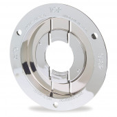 "Theft-Resistant Mounting Flange & Pigtail Retention Cap For 2 1/2"" Round Lights, Mounting Flange, Chrome"