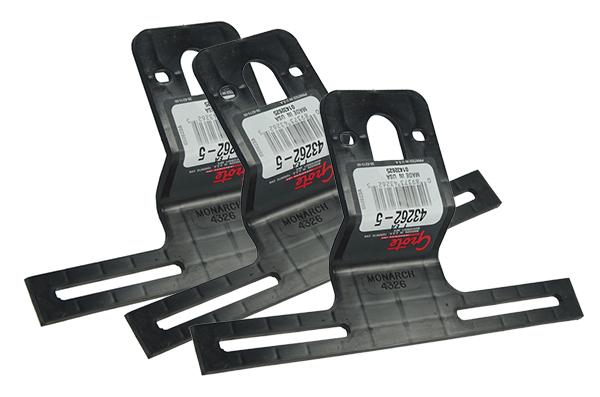 Universal Offset License Plate Bracket, Black, Bulk Pack