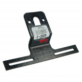 Universal Offset License Plate Bracket, Black, Retail Pack