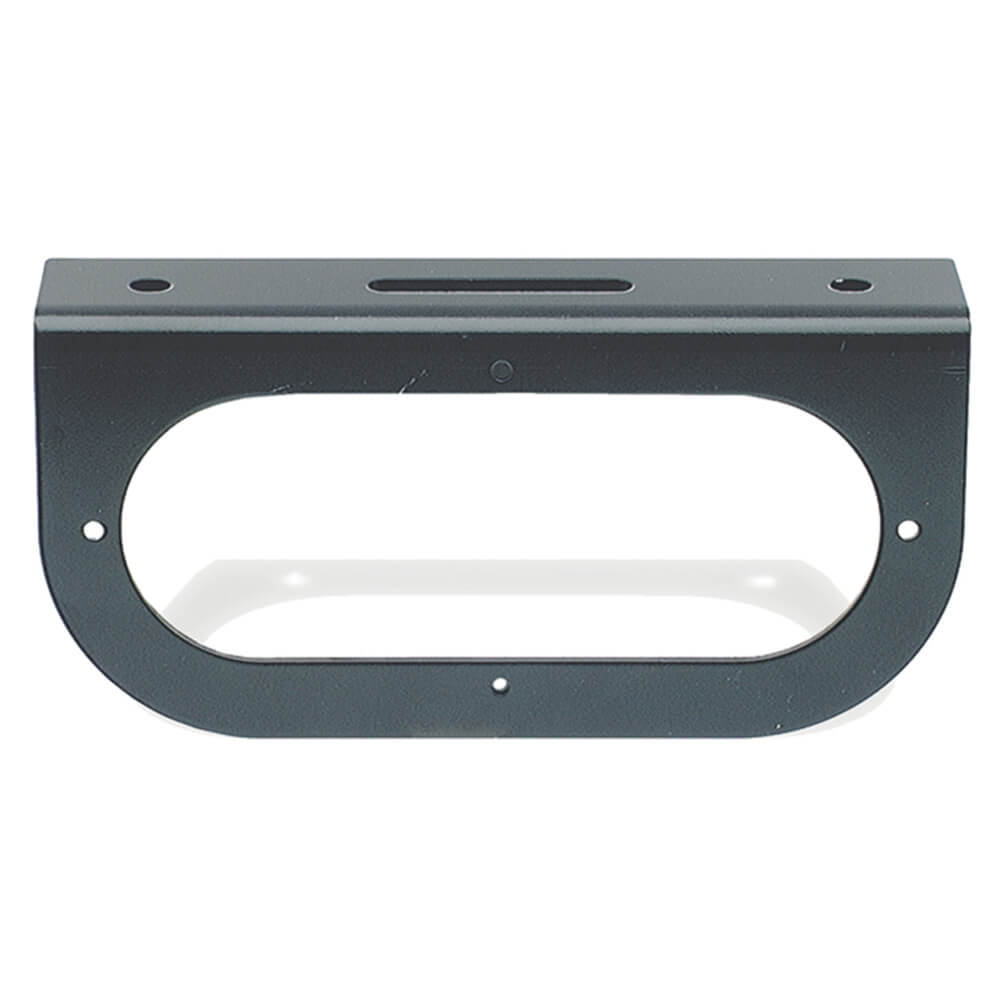 "Mounting Bracket For 6"" Oval Lights, 90° Angle Bracket, Black"