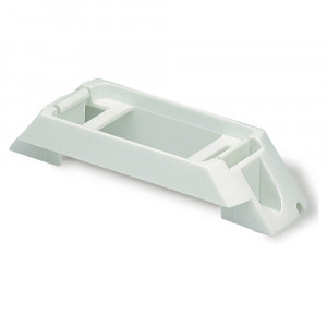 Rail-Mount Bracket For Small Rectangular Lights, White Kit (42131 + 67050)