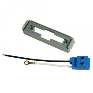 Befestigungsklammer für große, rechteckige Leuchten, Graues Kit (43780 + 66981)