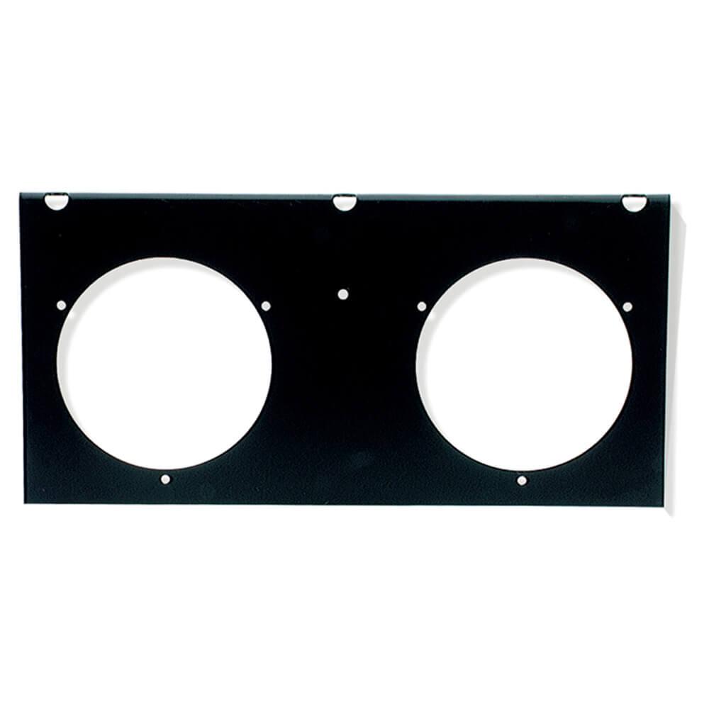 """Módulo de montaje para 2 luces redondas de 4"""", negro"""