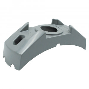 "4 5/8"" Corner Radius Bracket For 2"" & 2 1/2"" Round Lights, Gray"