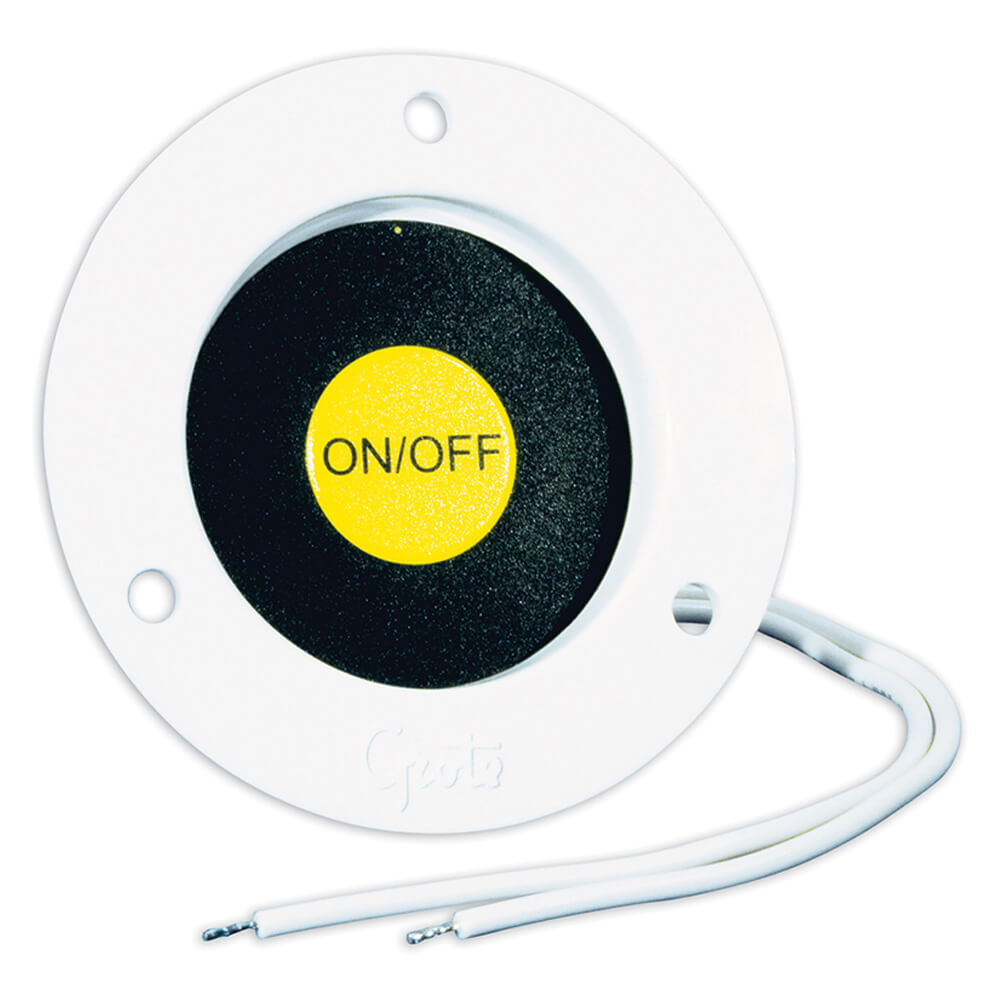 Recessed Momentary Ground Switch, White