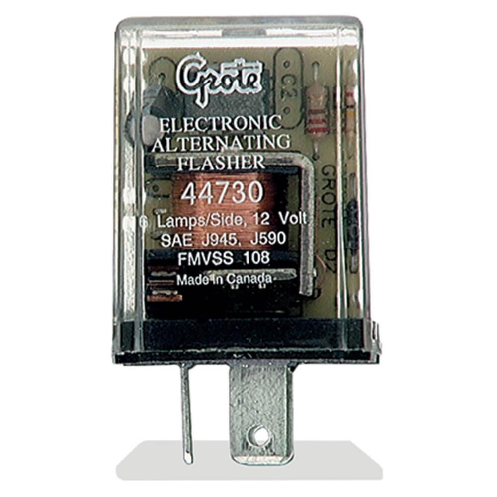 Destellador de 3 clavijas, Electrónico alternante para trabajo pesado de 6 lámparas