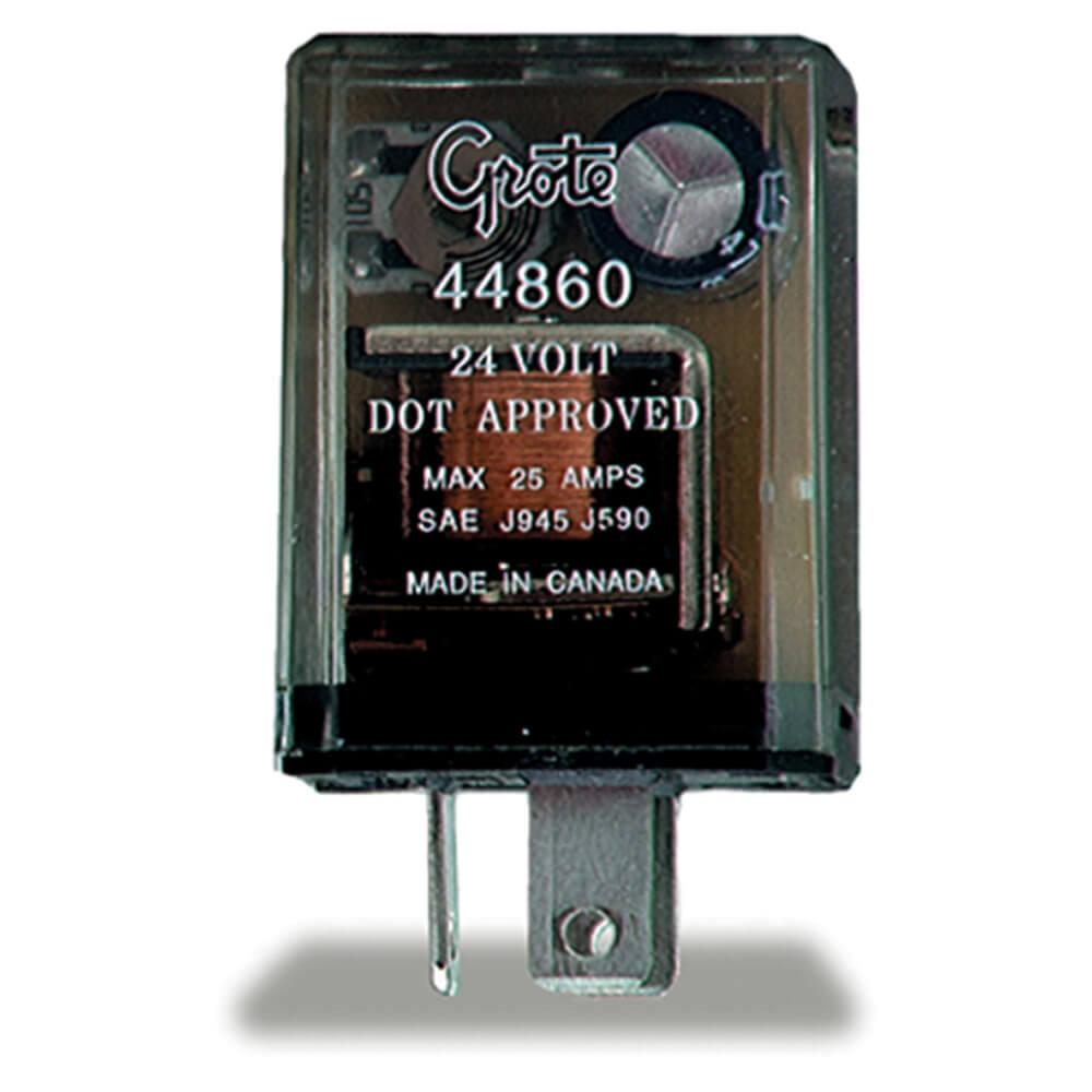 Destellador de 3 clavijas, Electromecánico de 12 luces (piloto), 24 V