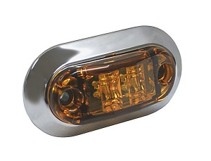 "2 1/2"" Oval LED Clearance Marker Lights"