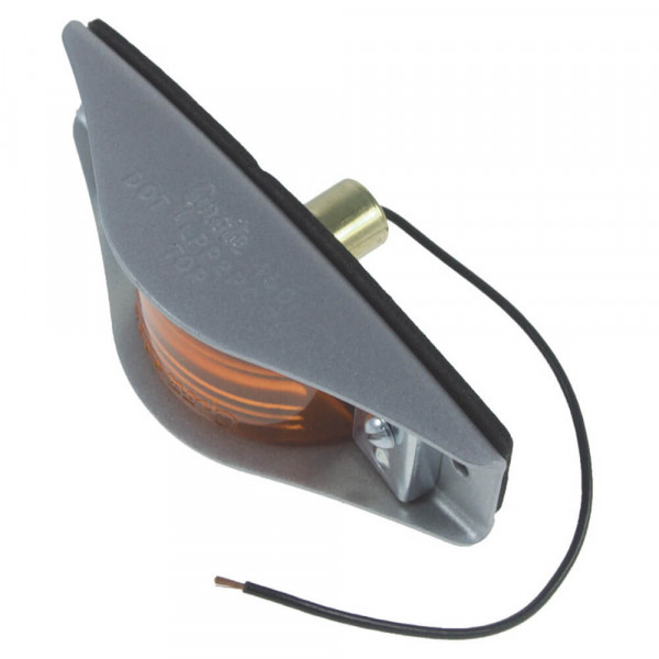 armored clearance marker light amber