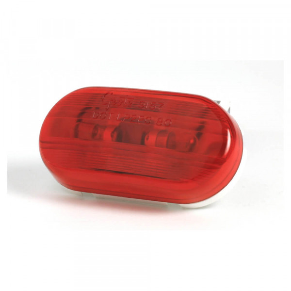 two bulb oval pigtail type clearance marker light optic red