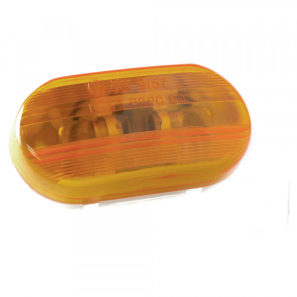 two bulb oval pigtail type clearance marker light amber optic
