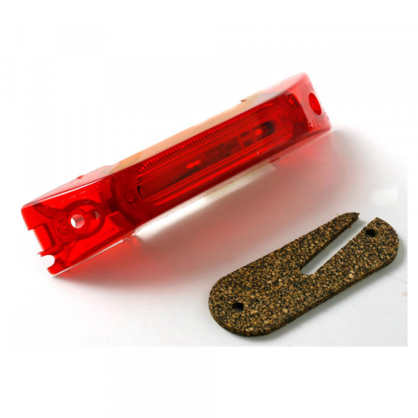 turtleback thin line single bulb clearance marker lightred