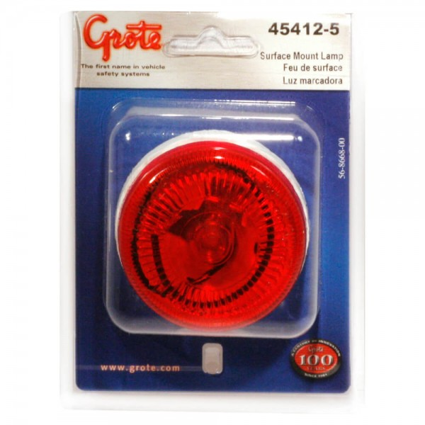 2 1/2 surface mount single bulb clearance marker light retail red