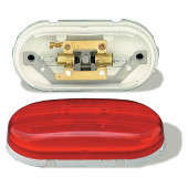 two bulb no splice clearance marker light red