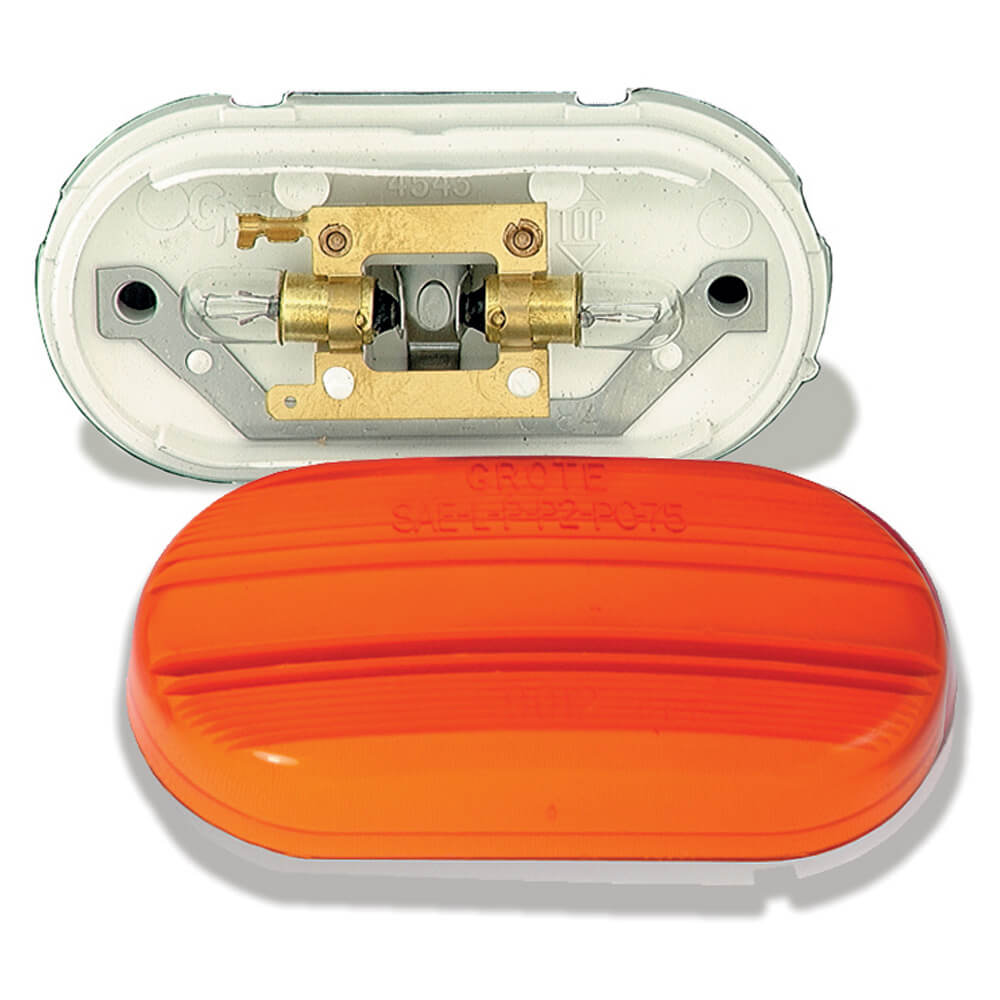 two bulb no splice clearance marker light yellow