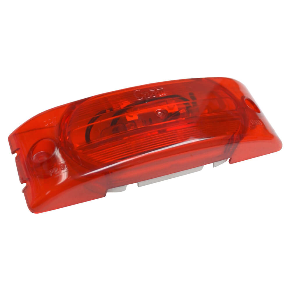 Two-Bulb Turtleback® Clearance Marker Light, Optic Lens, Red