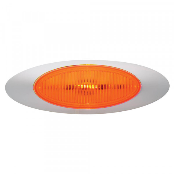 m1 series clearance marker light yellow molded bezel