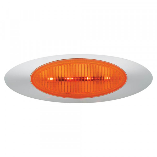 m1 series led clearance marker light molded bullet bezel yellow lens