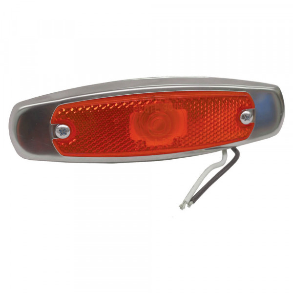 low profile clearance marker light reflector bezel red