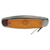 low profile clearance marker light reflector bezel yellow