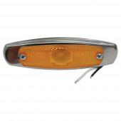 low profile clearance marker light reflector bezel yellow Miniaturbild