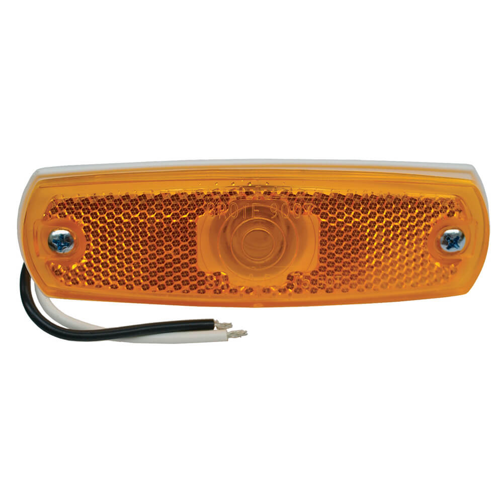 low profile clearance marker light reflector yellow