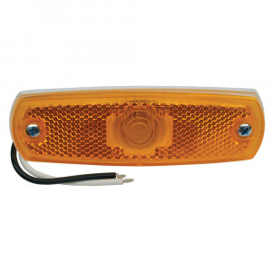 low profile clearance marker light reflector amber