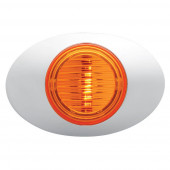 amber m3 series clearance marker light molded bullet bezel thumbnail
