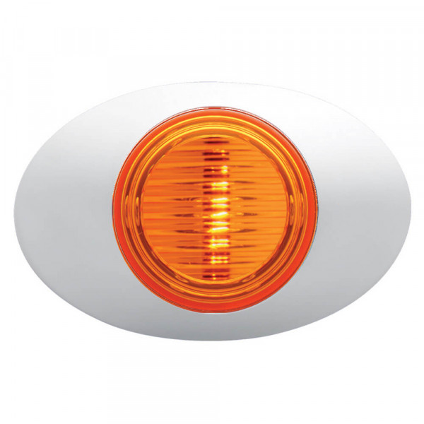 amber m3 series clearance marker light molded bullet bezel