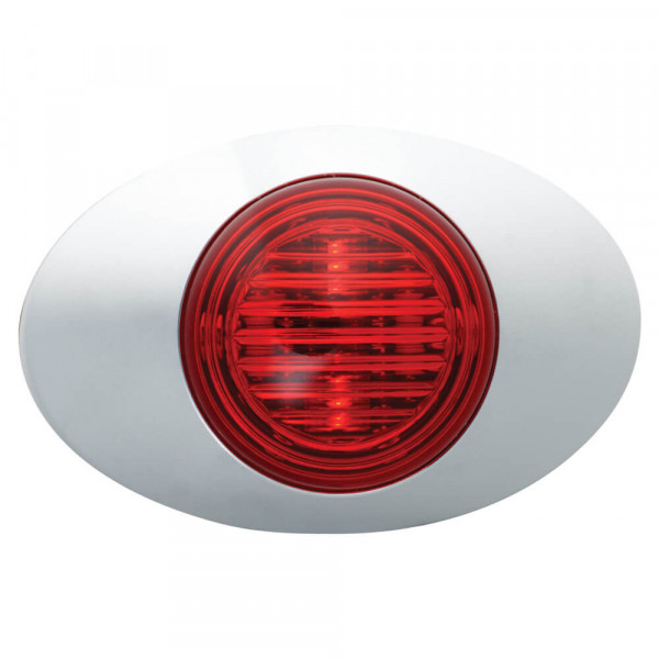 m3 series led clearance marker light red bezel bullet