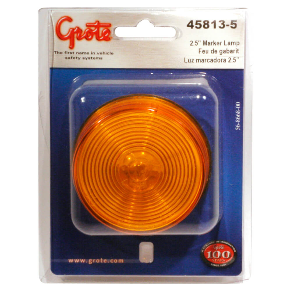 2 1/2 clearance marker light yellow retail