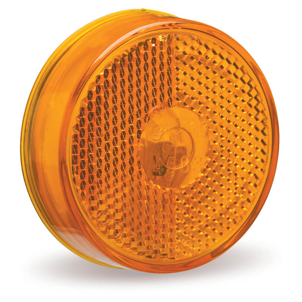 "2 1/2"" Clearance Marker Light, Built-In Reflector, Yellow"