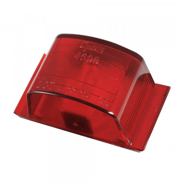 Small Square PC-Rated Clearance Marker Light, Red