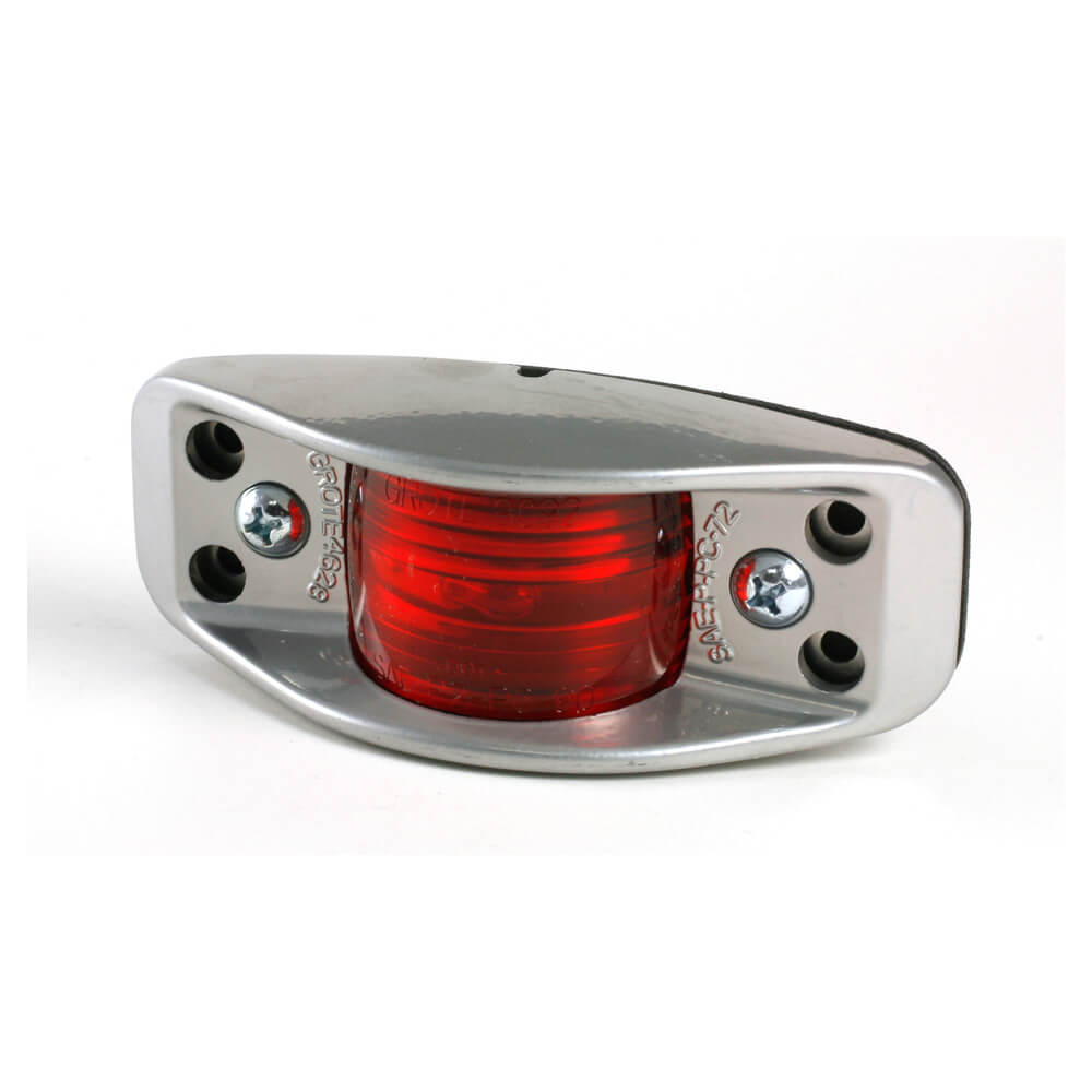 die cast aluminum clearance marker light flat back red