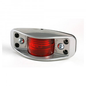 die cast aluminum clearance marker light flat back red