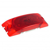 Two-Bulb Turtleback® Clearance Marker Light, Built-in Reflector, Red