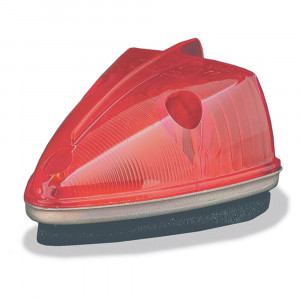 school bus wedge marker light red