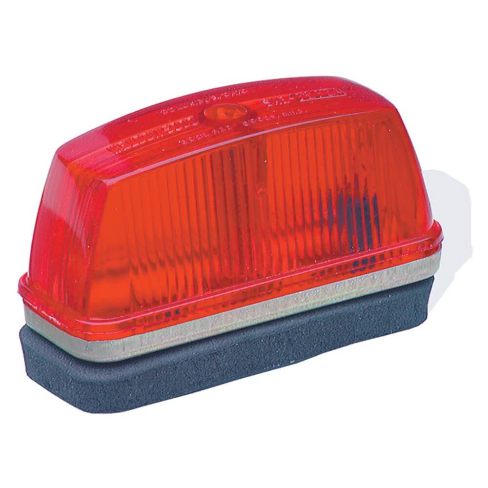 school bus rectangular marker light red